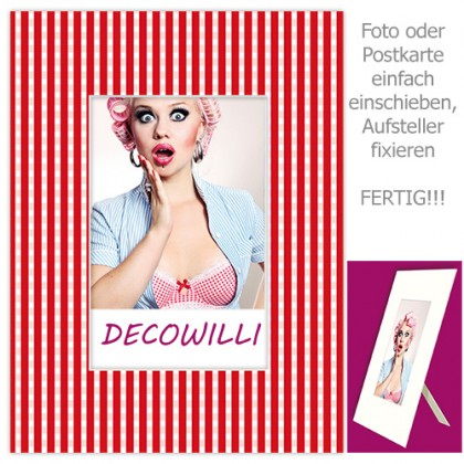 Einschub-Passepartout COLOR - Wiesn rot - DECOWILLI 18x24 / Bild 10x15